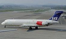 Un MD-87 della SAS