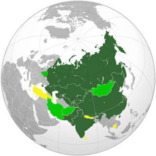 SCO MAP 10 July 2015 - Including two new permanent members Pakistan and India.png