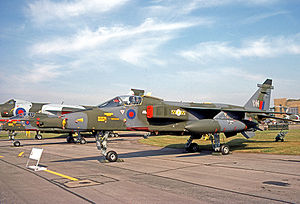 No. 31 Squadron RAF - No. 31 Squadron Jaguar GR.1 strike aircraft at the Queen's Silver Jubilee Review in July 1977.