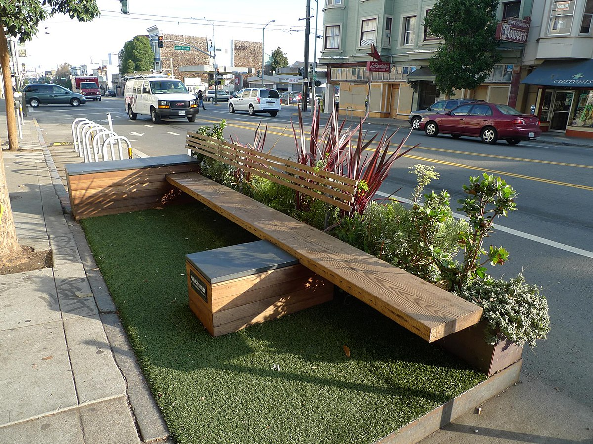 Parklet wikip dia a enciclop dia livre for Design outdoor space online