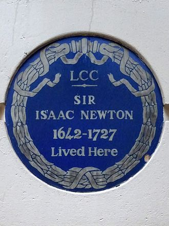 Jermyn Street - Blue Plaque for Sir Isaac Newton