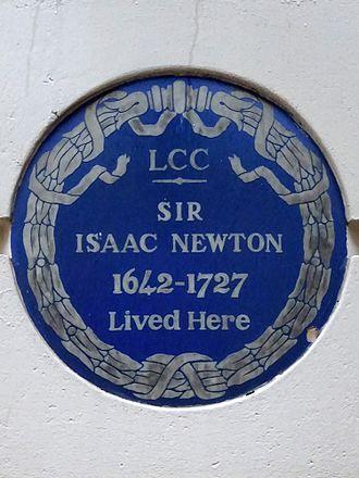 Jermyn Street - Blue Plaque for Sir Isaac Newton