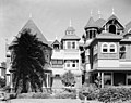SOUTH END OF EAST FRONT - Winchester House, 525 South Winchester Boulevard, San Jose, Santa Clara County, CA HABS CAL,43-SANJOS,9-3.jpg