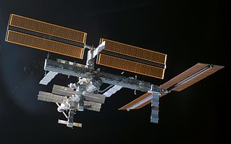ISS was slowly assembled over a decade of spaceflights and crews STS-115 ISS after undocking.jpg