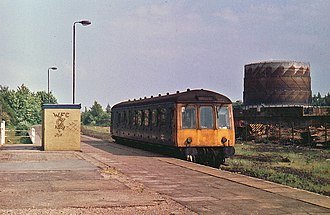 St Albans Abbey railway station - St Albans Abbey station in June 1977