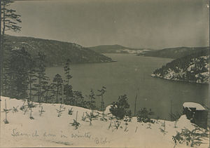 Saanich Inlet - Saanich Inlet in winter, 1917