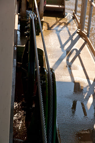 Cable ferry - Winding mechanism on the Sackville Ferry in New South Wales, Australia