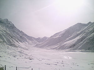 Lake Saiful Muluk - Saiful Muluk Lake in winter