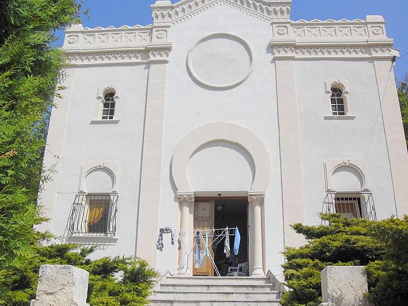 France, Saint-Mihiel, Meuse (55) - La façade de l'ancienne synagogue convertie en maison d'habitation