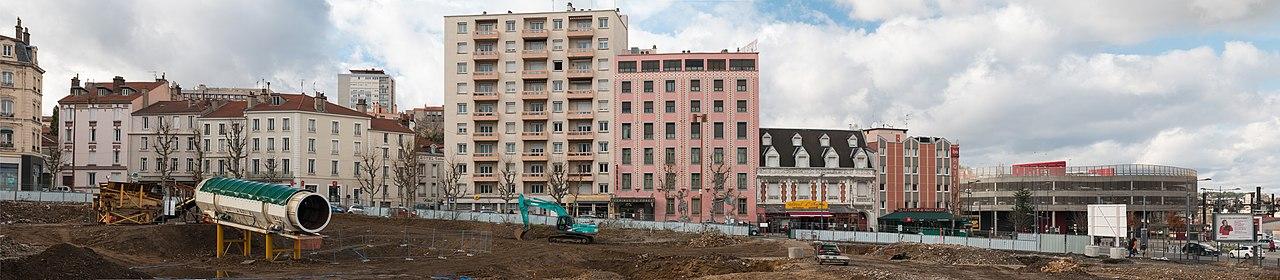 Vue de Saint-Etienne, des batiments inesthétiques