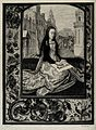Saint Barbara. Etching by G.M. Greux after H. Memling. Wellcome V0031657.jpg