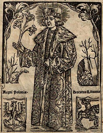 Saint Casimir - Saint Casimir on the cover page of his first hagiography