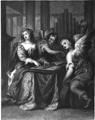 Saint Cecilia attended by Angels.png