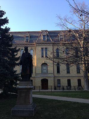 St. Edward's Hall (University of Notre Dame) - St. Edward's statue