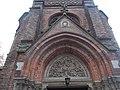 Saint Joseph Church, Gothic Revival tympanum and IHS, 2018 Mátyásföld.jpg