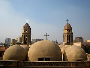Heliopolis, Cairo - The domes of Saint Mark's Church, the oldest Coptic church in Heliopolis