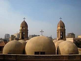Heliopolis, Cairo - The domes of Saint Mark's Church, one of the oldest Coptic church in Heliopolis
