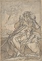 Saint Paul Seated, with his Conversion in the Background; Verso- Figure Sketch MET DP801122.jpg