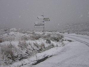 Rathfarnham -  The Military Road at the Sally Gap