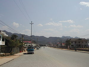 Xam Neua - Sam Neua's main street