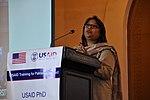 Samina Naseem (PhD Scholar) sharing her experience at the event (16030459684).jpg