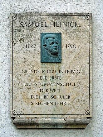 Südfriedhof (Leipzig) - Gravestone of Samuel Heinicke