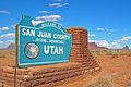 San Juan County - Utah - Cartello Stradale - Agosto 2011.jpg