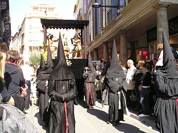 "The famous ""Sanch Procession"" celebrating the passion of the Christ (since 1461), once forbidden, is still celebrated in the French southern cities and towns of Perpignan, Arles-sur-Tech and Collioure."
