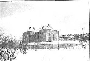 HNoMS Honningsvåg - Sandnessjøen Hospital, where wounded German prisoners were treated in 1940