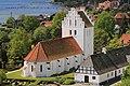 Sankt Jørgens Kirke seen from Svendborgsund bridge (cropped).jpg