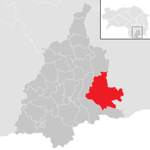 Location of the municipality of Sankt Veit in southern Styria in the Leibnitz district (clickable map)