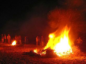 Bonfires of Saint John - Bonfire at Almadrava beach on Saint John's night. Bonfires are very common in Spain and Portugal.