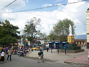 Santa Bárbara, Antioquia - Image: Santa Bárbara esquina parque