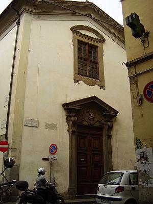 Santa Maria dei Candeli - La facciata su Via de' Pilastri