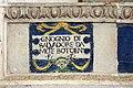 Santi buglioni, consegna delle chiavi a san pietro, 1530 ca. 03 iscrizione antonio (gnognio) di salvatore da monte botolino f.f.jpg