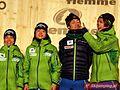 Sara Takanashi, Daiki Ito, Yuki Ito, Taku Takeuchi Val di Fiemme 2013 (mixed team - decoration) 2.JPG