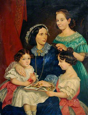 Thomas Bateman - Sarah Bateman and her three daughters by Thomas Joseph Banks