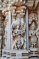 Saraswati at Le temple de Chennakesava, Somanathapura India 2014.jpg