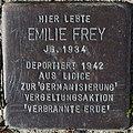 Sassnitz, Bergstraße, Stolperstein Emilie Frey.jpg