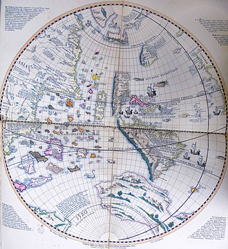 Johannes Schöner - Western hemisphere of the Schöner globe from 1520.