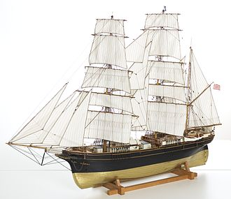 "German Emigrants Database - Model emigrant ship ""COLUMBIA"""