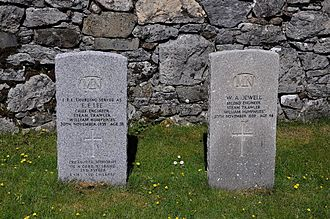 German submarine U-33 (1936) - Graves of two crewmen of William Humphries