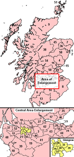Scottish Westminster constituencies from 2005