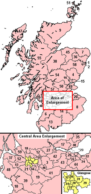 Scottish Westminster constituencies from 2005 - Parliamentary constituencies in Scotland