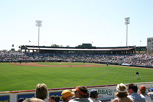 Scottsdale Stadium - 2004-03-12 - View from lawn seats.JPG