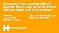 Scranton office opening with U.S. Senator Bob Casey, Scranton Mayor Bill Courtright, and Tony Rodham.jpg