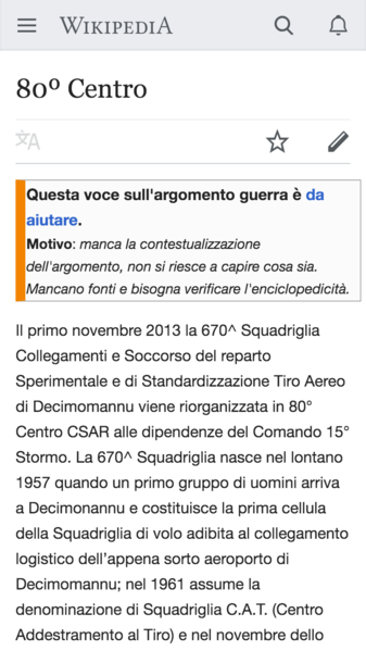 File:Screenshot of mobile page issue banner on Italian Wikipedia.png