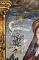Scuola ligure, immacolata concezion e santi, xvi secolo, dalla ss. annunziata a savona, 07 maria tra attributi mariani 02 stella maris e giglio.jpg
