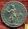Scuola romana, medaglia di gregorio XIV, annona con spighe, arg..JPG