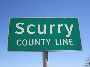Scurry County, Texas - Scurry County marker